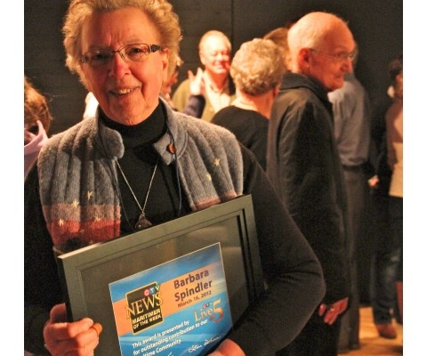 SSGS volunteer Barbara Spindler receives CTV's Maritimer of the Week award